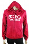 Wholesale Womens Ex Chainstore Zip Up Hoodie Jacket Maroon